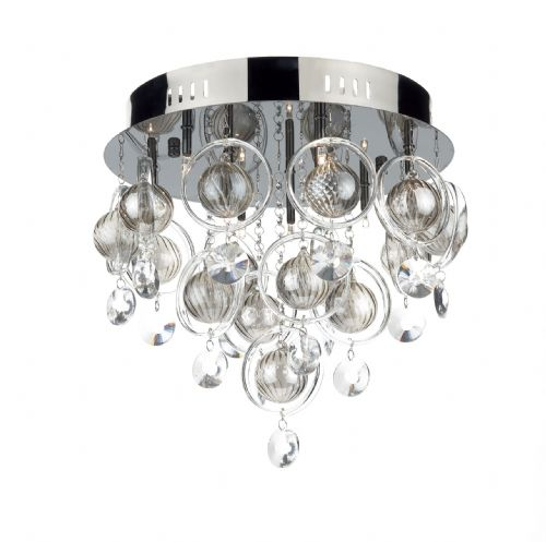 Dar Cloud 9 Light Flush G4 Black Chrome CLO1367